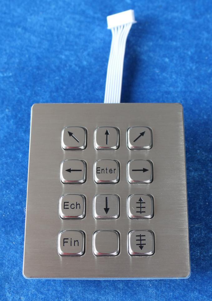 12 Keys Dot Matrix Dynamic Ip67 Waterproof Outdoor Metal