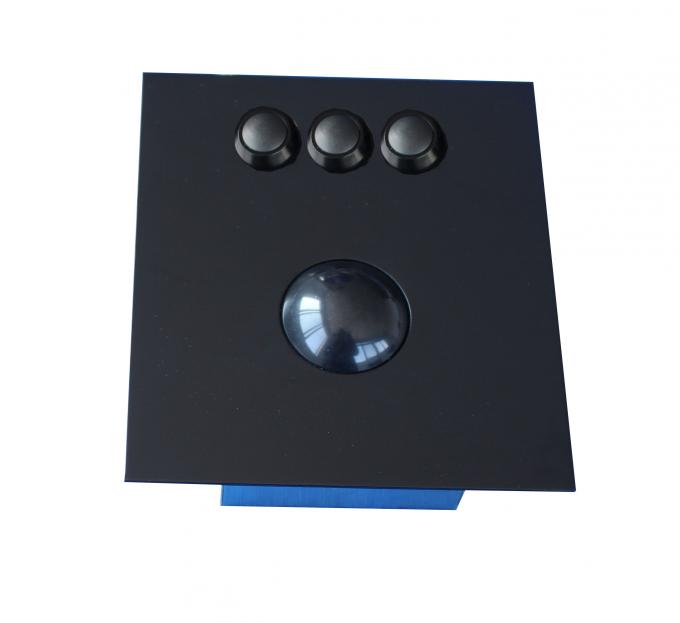 Top Panel Black 38mm Trackball Pointing Device 3 Polymer Mouse Buttons