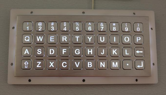Alphanumeric 40 Buttons Stainless Steel Backlit Keypad Panel Mount Dot Matrix Interface