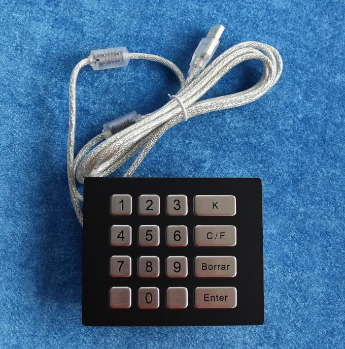 Desktop Industrial Mini Keyboard USB / PS2 Interface Water Resistant With Function Keys