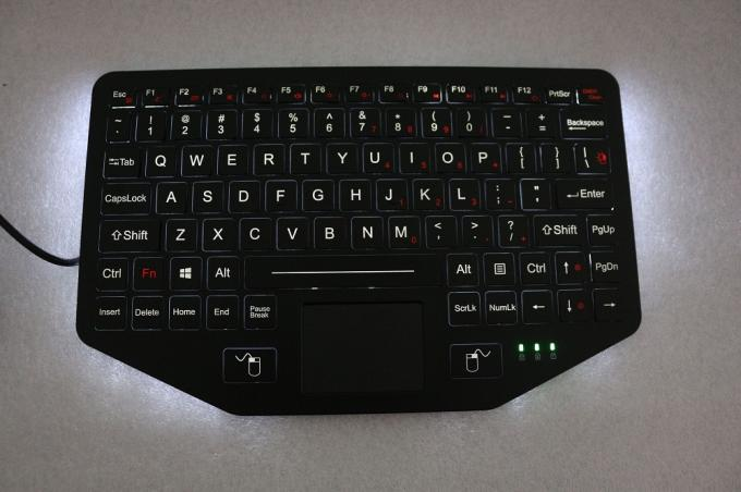 Rugged Vehicle Keyboard with Touchpad Backlit Scissor Switch Desktop