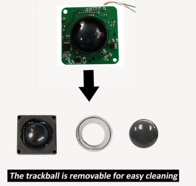 Medical Mechanical Trackball Pointing Device Removable Mouse 38.0mm For Ultrasound